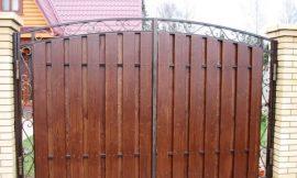 ворота распашные комбинированные фотография