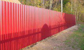 заборная конструкция из профлиста фотография