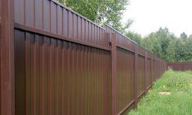 забор из профнастила изображение
