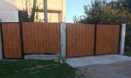 Распашные ворота в Могилеве